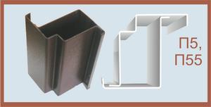 металлический профиль в двери